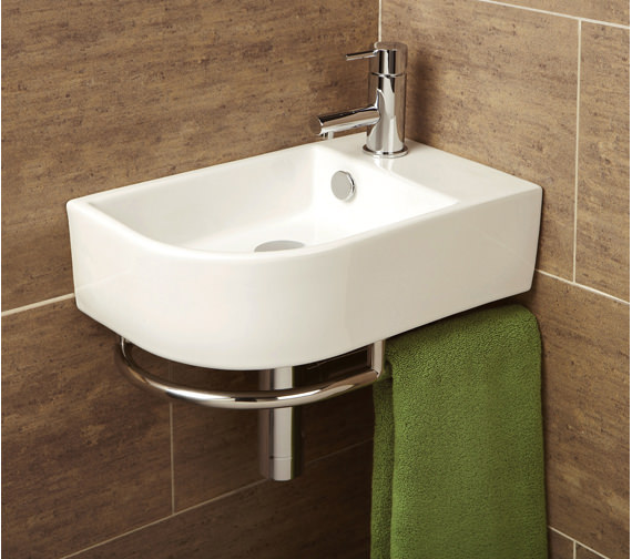 HIB Malo Temoli Cloakroom Basin With Towel Rail - 8976