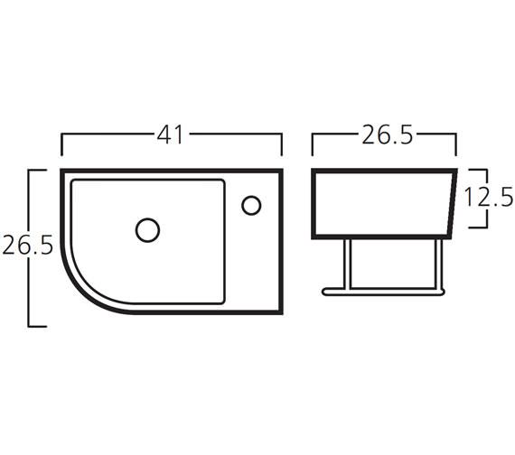 Technical drawing QS-V30778 / 8976