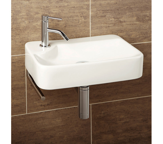 HIB Malo Lugo Cloakroom Basin With Towel Rail - 8932