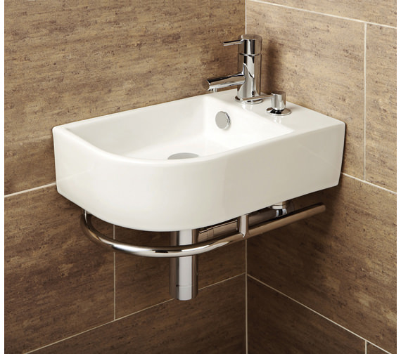 HIB Malo Africo Basin With Towel Rail And Soap Dispenser - 8919