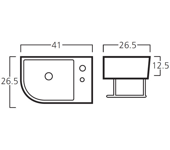 Technical drawing QS-V30784 / 8919