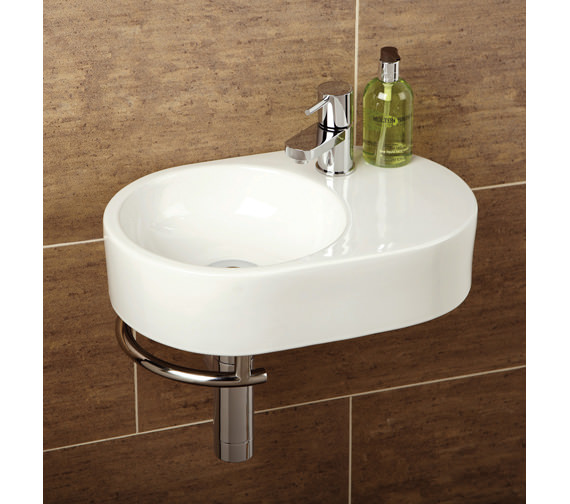 HIB Malo Saville Cloakroom Basin With Towel Rail - 8943