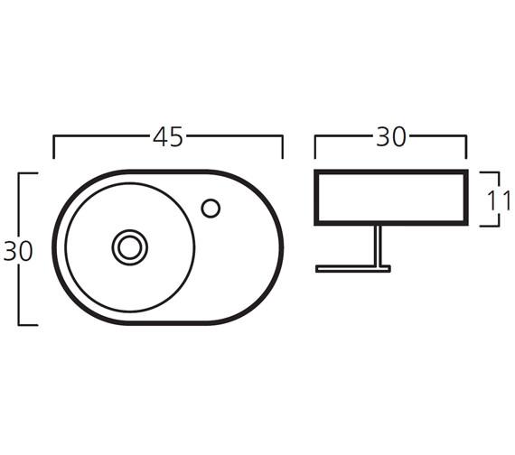 Technical drawing QS-V30786 / 8943