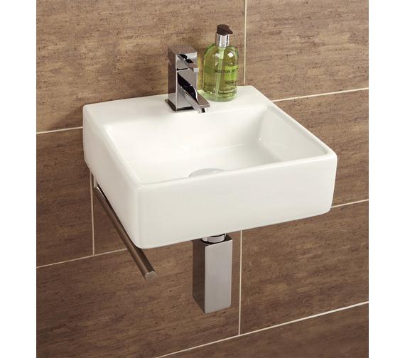 HIB Malo Sabai Cloakroom Basin With Towel Rail - 8910