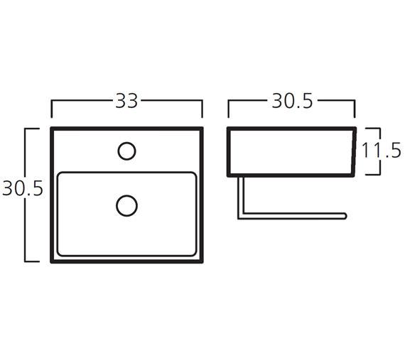 Technical drawing QS-V30788 / 8910