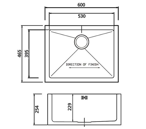 Technical drawing QS-V30873 / BEXBHOMEPK