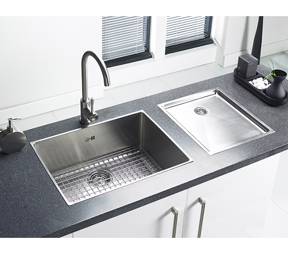 Additional image of Astracast Onyx 4034 Brushed Stainless Steel Flush Inset Drainer