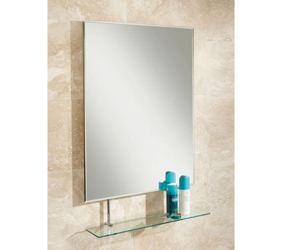HIB Tapio Portrait Bevelled Mirror With Glass Shelf - 77275000