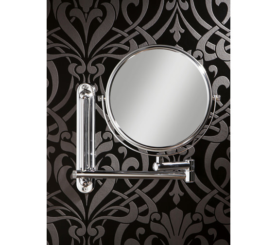 HIB Tila Double Sided Extendable Magnifying Bathroom Mirror -28200