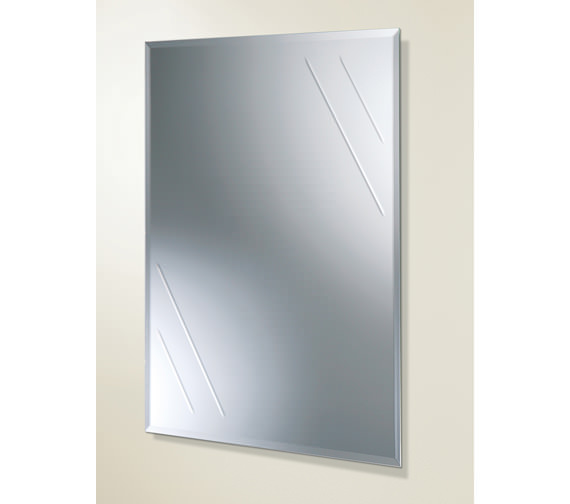 HIB Albina Rectangular Bevelled Edge Bathroom Mirror - 61164100