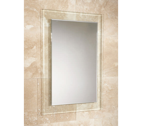 HIB Lola Bevelled Edge Mirror With Clear Glass Frame 500 x 700mm