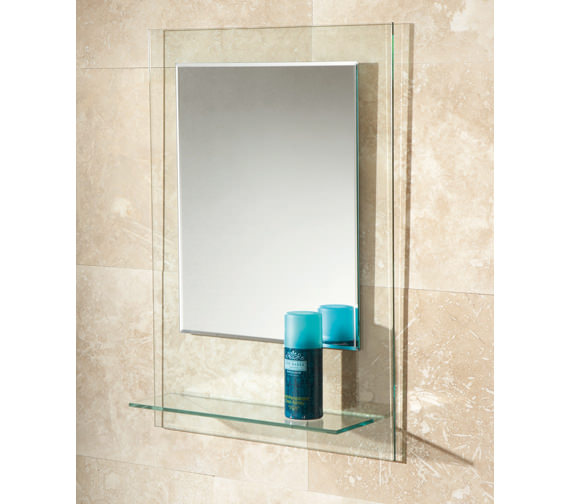 HIB Fuzion Bevelled Edge Mirror With Glass Shelf - 72300100