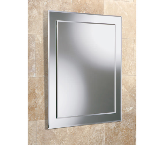 HIB Olivia Rectangular Bevelled Mirror On Mirror 400 x 600mm