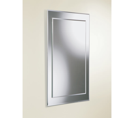 HIB Lucy Rectangular Bevelled Mirror On Mirror 400 x 800mm
