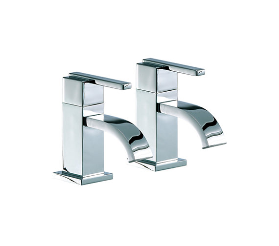 Mayfair Ice Fall Lever Head Basin Taps Pair - IFL001