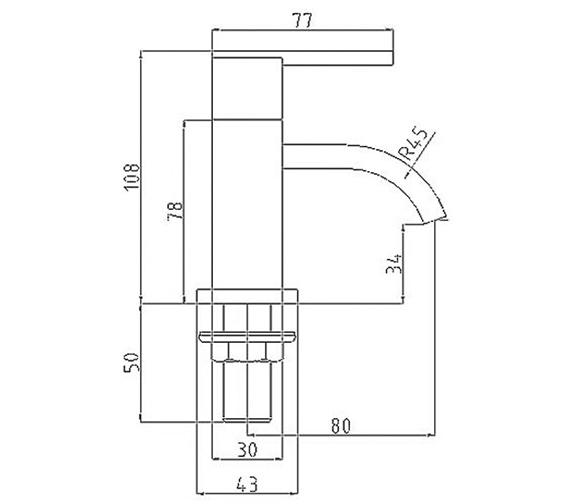 Technical drawing QS-V31000 / IFL001