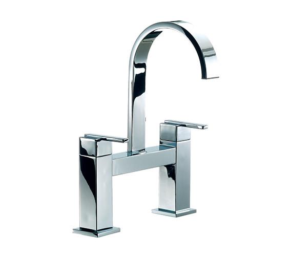 Mayfair Ice Fall Lever Head Bath Filler Tap High Spout Chrome - IFL015