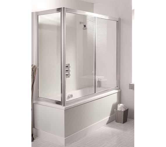 Simpsons Supreme Overbath Slider Bath Screen 1700mm - 5301
