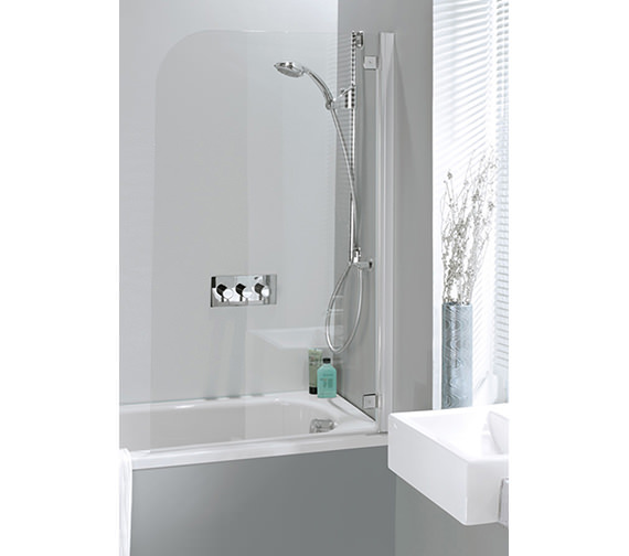 Simpsons Supreme Deluxe 700mm Bath Screen With Silver Hinges