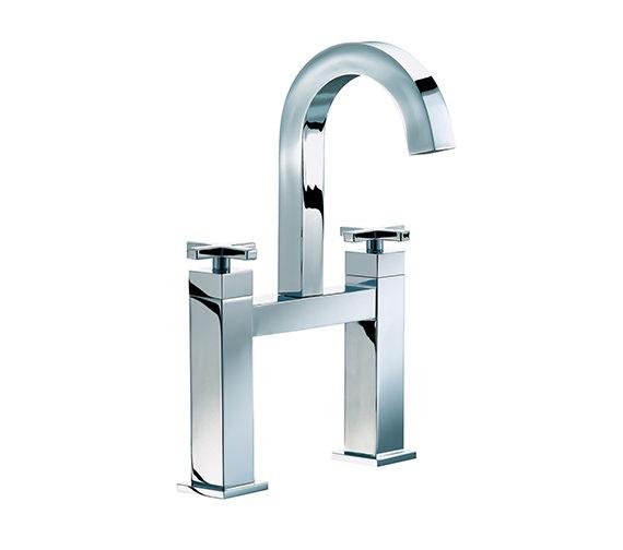 Mayfair Ice Quad Cross Bath Filler High Spout Tap Chrome - ISX015