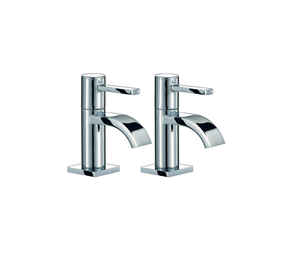 Mayfair Wave Basin Taps Pair Chrome - RDL001