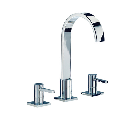 Mayfair Wave 3 Tap Hole Basin Mixer Tap With Pop Up Waste - RDL013