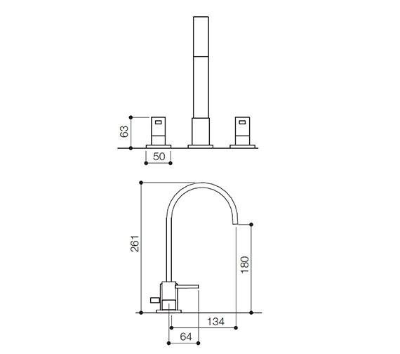 Technical drawing QS-V31046 / RDL049