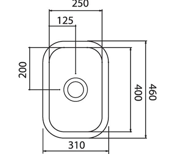Technical drawing QS-V31093 / LNH2WHHOMESK