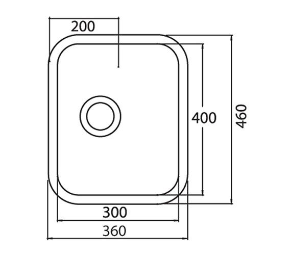 Technical drawing QS-V31094 / LNS1WHHOMESK