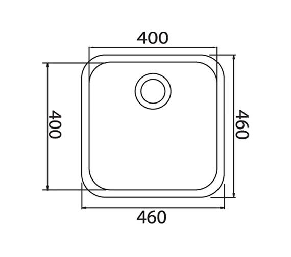 Technical drawing QS-V31095 / LNS2WHHOMESK