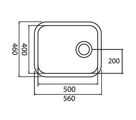 Technical drawing QS-V31096 / LNS3WHHOMESK