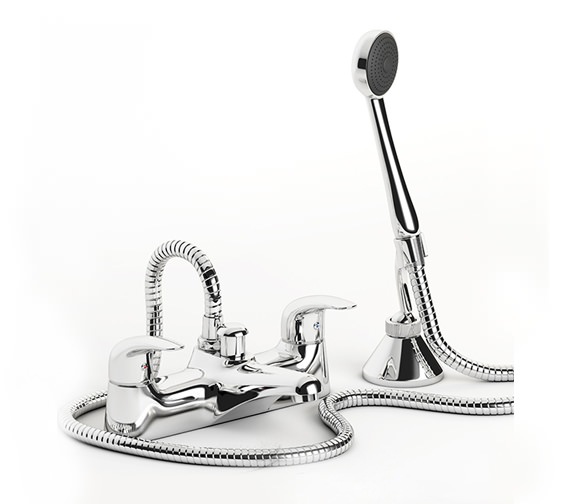 Mayfair Titan Bath Shower Mixer Tap With No1 Kit Chrome - TT007