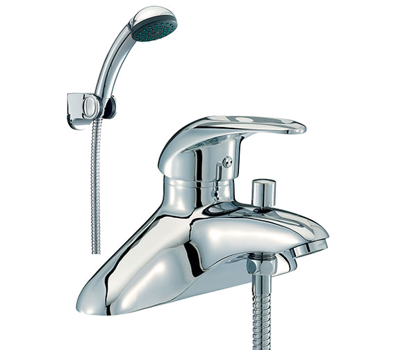Mayfair Jet Bath Shower Mixer Tap With Shower Kit Chrome - JET003