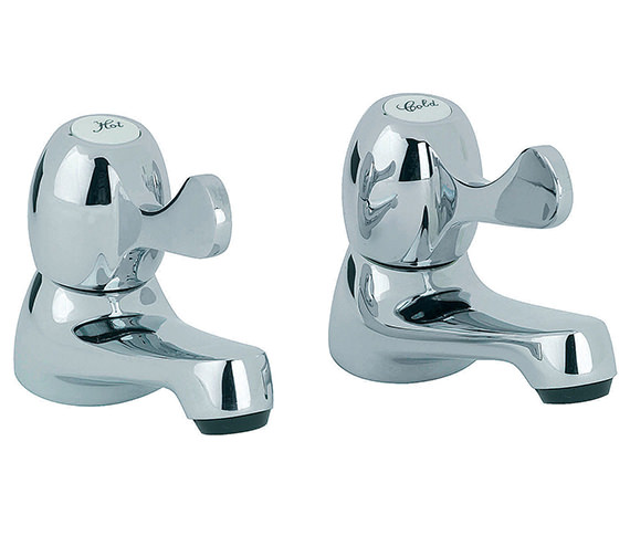 Mayfair Alpha Basin Taps With Lever Handles (Pair) - AL047