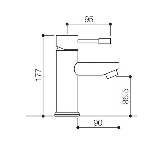 Technical drawing QS-V31144 / SFL009