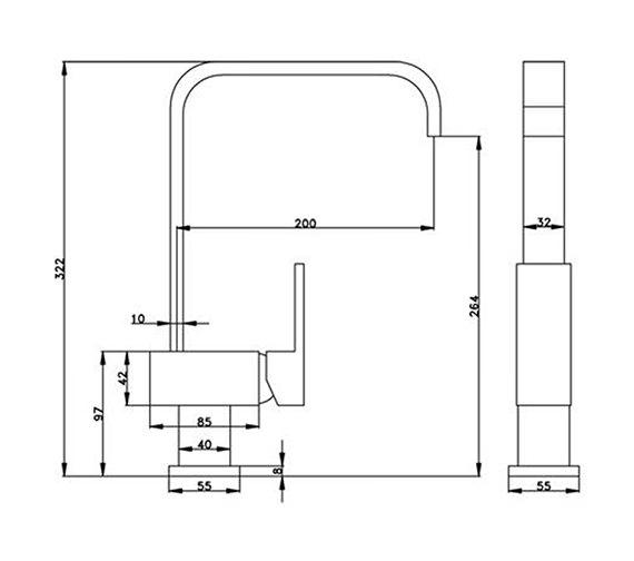 Technical drawing QS-V31228 / KIT023