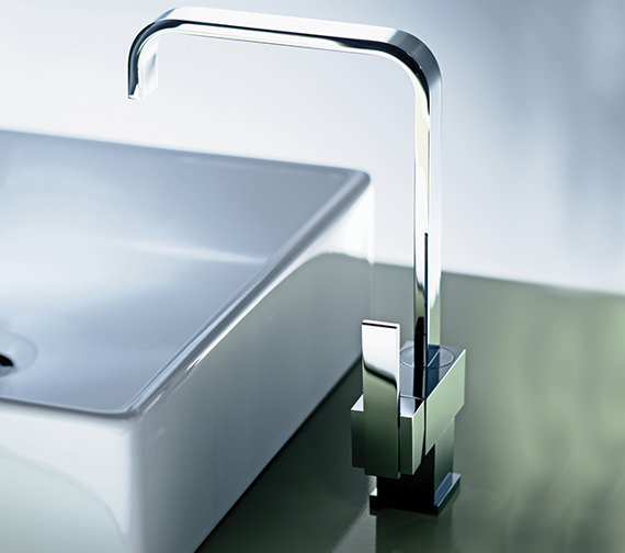 Mayfair Flow Monobloc Kitchen Mixer Tap With Side Lever