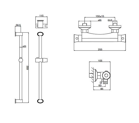 Technical drawing QS-V31263 / RNB001