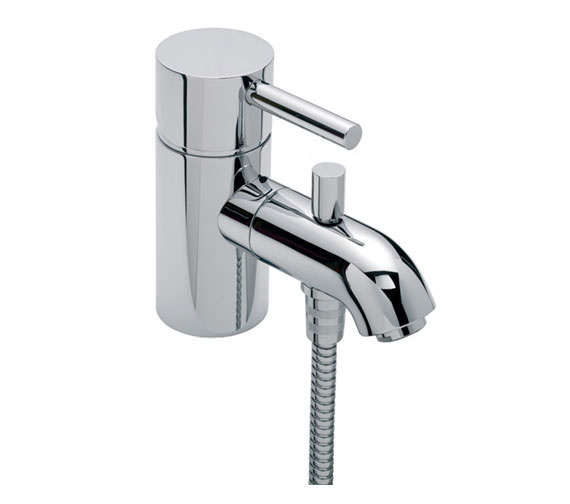 Tre Mercati Milan Mono Bath Shower Mixer Tap with Shower Kit Chrome