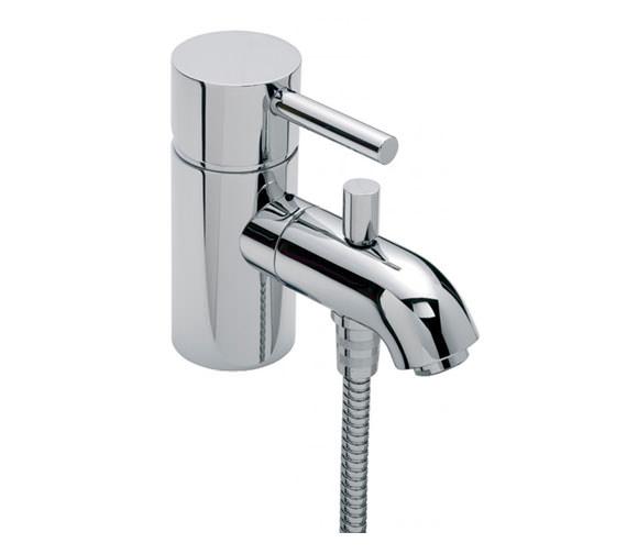 Tre Mercati Milan Mono Bath Shower Mixer Tap with Shower Kit Chrome