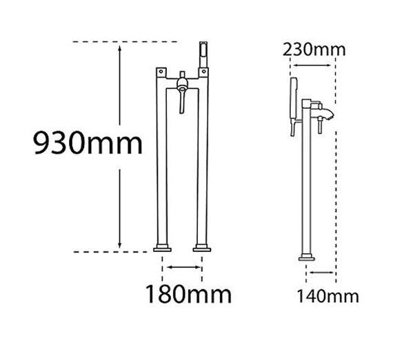 Technical drawing QS-V31280 / 63556