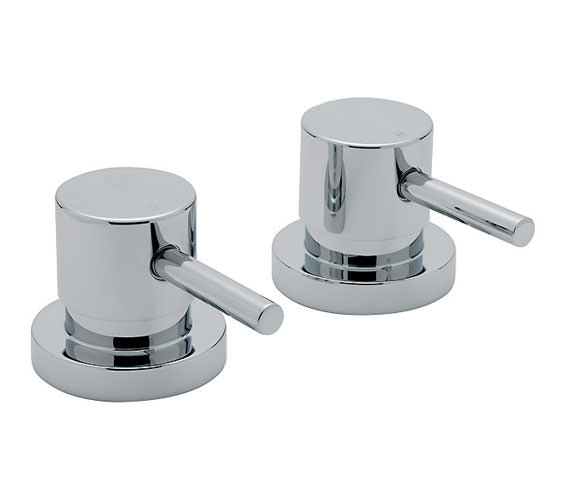 Tre Mercati Milan 3-4 Inch Pair Of Side Valve Chrome - 63000