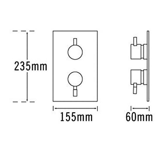 Technical drawing QS-V31285 / 63230