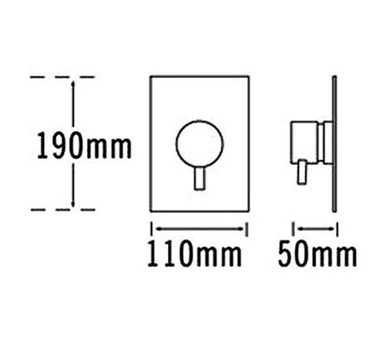 Technical drawing QS-V31288 / 63250