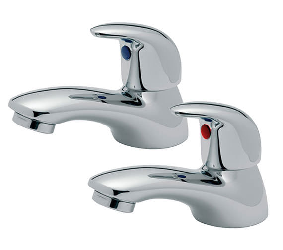 Tre Mercati Novara Pair Of Bath Tap Chrome - 65020