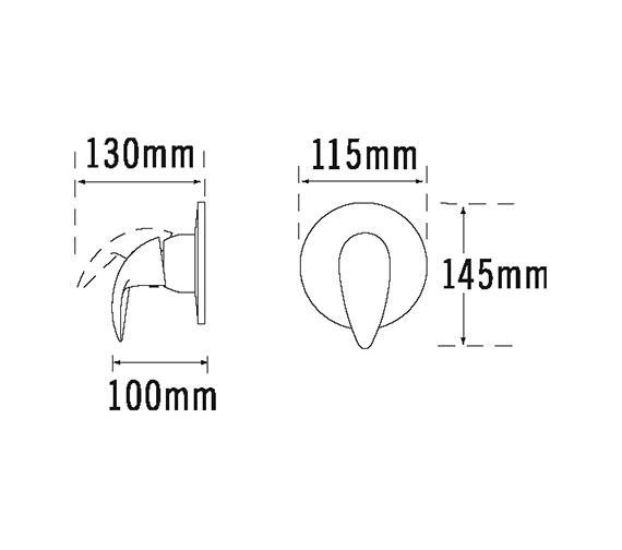Technical drawing QS-V31389 / 65100