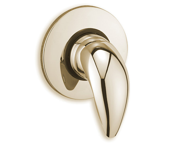 Tre Mercati Novara Exposed-Concealed Shower Valve in Gold Plated