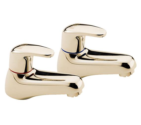 Tre Mercati Modena Pair Of Bath Tap Gold - 95220