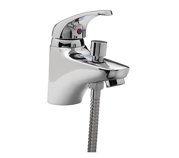 Tre Mercati Modena Mono Bath Shower Mixer Tap With Shower Kit Chrome