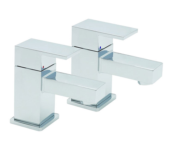 Tre Mercati Edge Pair Of Bath Tap Chrome - 22320